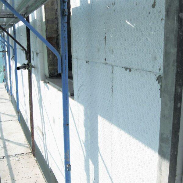 Pannello di Polistirolo EPS 80 applicato per cappotto esterno