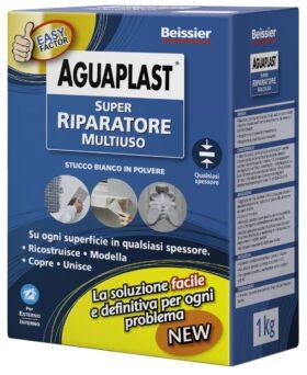 Stucco riparatore bianco in polvere AGUAPLAST SUPER RIPARATORE kg.1