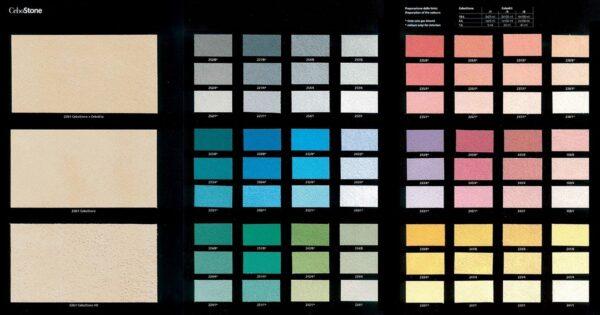 Collezione colori pittura decorativa con effetto sabbiato CeboStone opaco