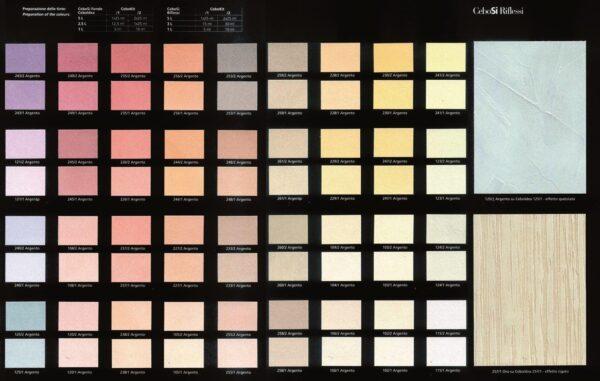 Collezione colori velatura luminescente cebosi riflessi