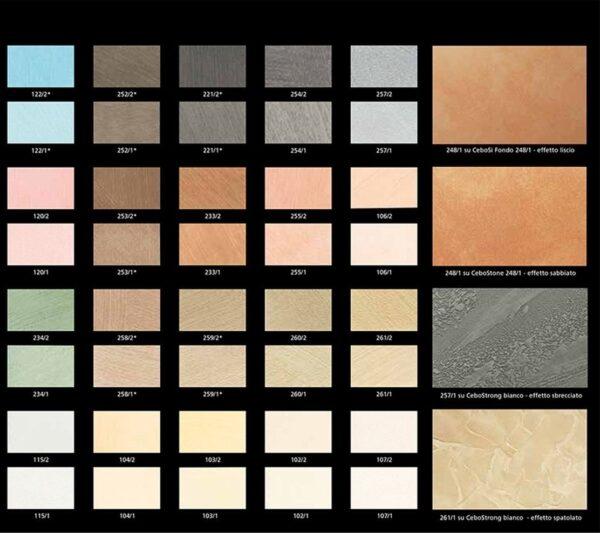 Collezione colori Velatura opaca Cebosi Universal