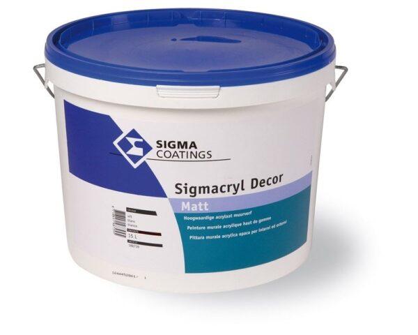 Pittura acrilica lavabile Sigmacril Decor per interni esterni ad alta copertura e lavabilita'
