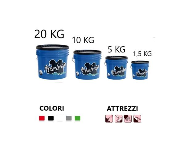 Guaina liquida colorata CIMAR MEMBRANA LIQUIDA per uso professionale vari colori e formati