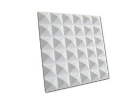 Pannello fonoassorbente piramidale in resina melamminica 120x120 cm ISOTEK STOP
