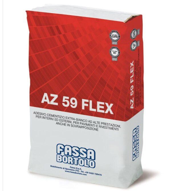 Colla piastrelle per ceramica gres e pietre naturali FASSA AZ 59 FLEX - colore grigio kg.25