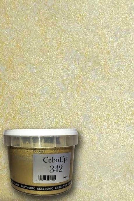 Additivo metallizzante CEBOUP 342 colore oro per effetto damascato Cebofree White Confezione ml.500