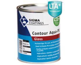 Smalto lucido all'acqua per legno, metallo e pvc Sigma Contour Aqua PU Gloss vari formati