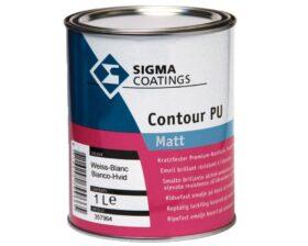 Smalto opaco a solvente per legno, metallo e pvc Sigma Contour PU matt - vari formati