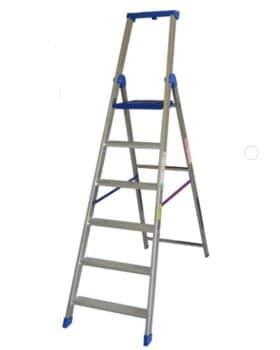 Scala doppia professionale alluminio 6 Gradini altezza 2,30 metri Marchetti Climb EVO