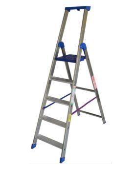Scala doppia professionale in alluminio a 5 Gradini altezza 2,00 metri Marchetti Climb EVO