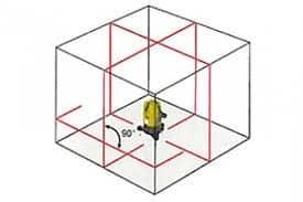 KIT livella laser autolivellante 360 con ricevitore a pendolo doppio squadro LP618