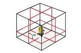 Laser autolivellante 360 raggio rosso doppio squadro a pendolo Akifix LP628