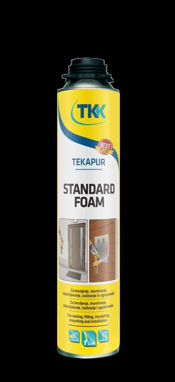 Schiuma poliuretanica standard bombola 750 ml Tekapur STANDARD