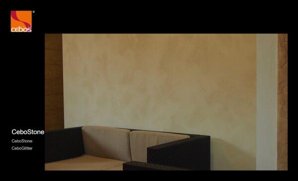 Applicazione pittura decorativa con effetto sabbiato CeboStone opaco