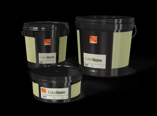 Latta vari formati pittura decorativa con effetto sabbiato CeboStone opaco
