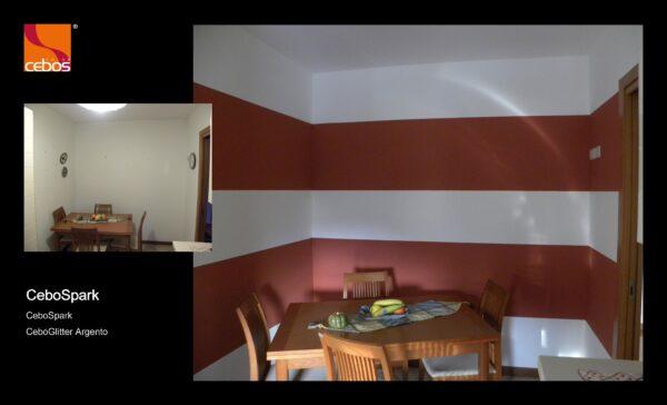Applicazione vernice decorativa effetto pennellato cebospark