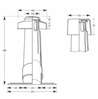Aeratore regolabile per tetti inclinati diametri 125 mm marrone