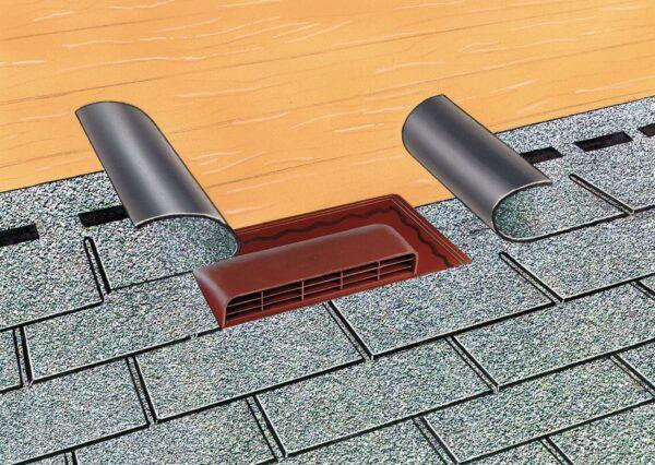 Aeratore per tetti a falde inclinati 500 x 275 mm H 62 mm
