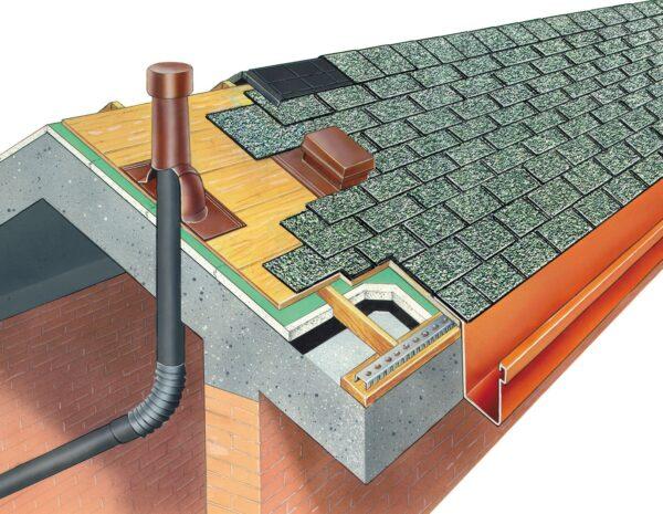 Colmo ventilato per tegola canadese 500 x 300 mm