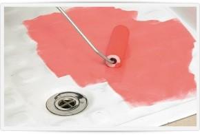 vernice per piatto doccia, pavimenti e pareti