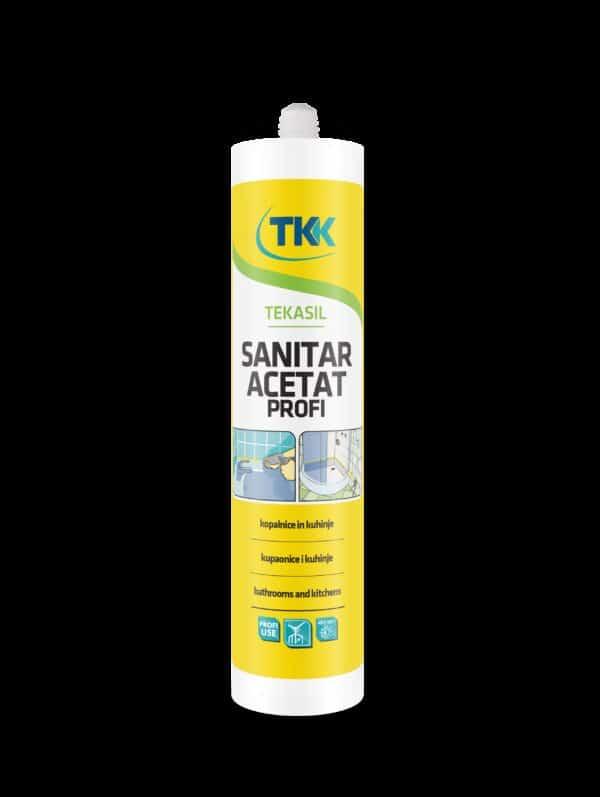 Silicone antimuffa per bagni sanitari e cucine bianco 280 ml TKK