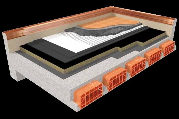 Pannello in lana di roccia per copertura rigido ad alta densità 120x60 densità 120 kg/mc FIbran BP-30