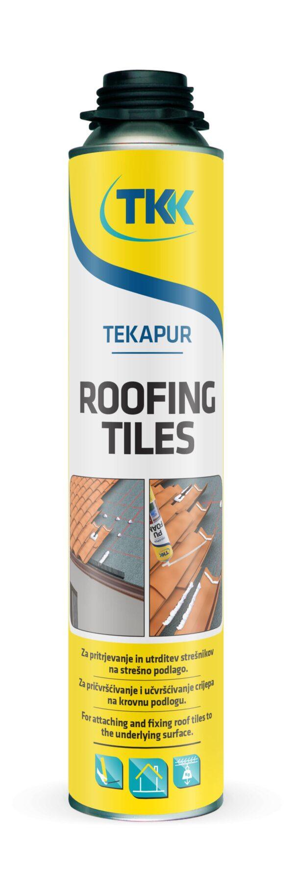Schiuma poliuretanica per coppi e tegole manuale 750 ml Tekapur Roofing Tiles