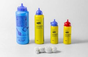 Flacone polvere tracciante blu 300 gr