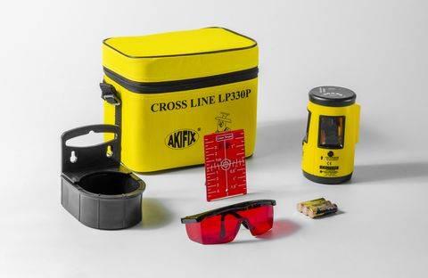 Livella laser autolivellante con ricevitore crossline LP330P raggio rosso