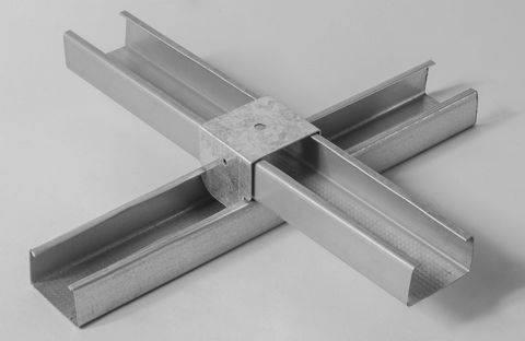 Cavaliere cartongesso per incrocio doppia struttura 27/60 akifix