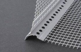Barra rompigoccia in pvc con rete in fibra di vetro e gocciolatoio ml.2,5 akifix