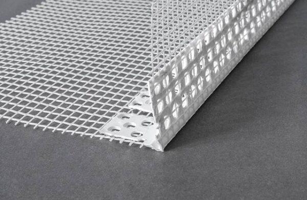 Paraspigoli pvc flessibile con rete per cappotto - 30x30mm - ml.2,5 akifix