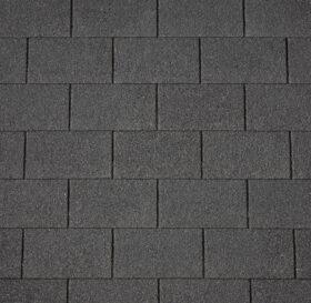 Tegole canadesi grigie rettangolari placche a 4 falde Polyglass Polytegola N - CONFEZIONE 3 MQ