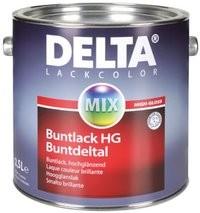 Smalto molto brillante altamente coprente DELTA BUNTLACK HG per ambienti interni ed esterni vari formati