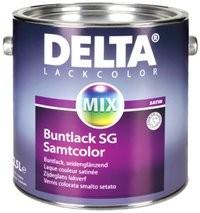 Smalto satinato a solvente altamente coprente DELTA BUNTLACK SG per ambienti interni ed esterni