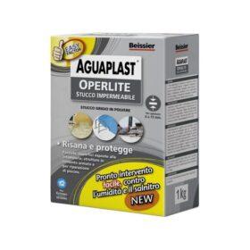 Stucco impermeabile in polvere AGUAPLAST OPERLITE antiumidità antisalnitro grigio kg.1