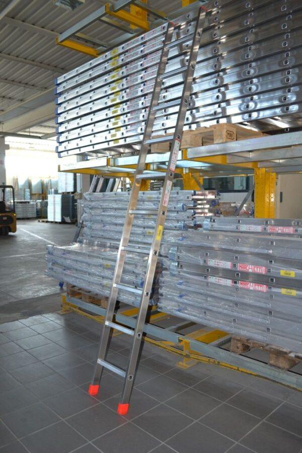 Scala professionale singola in alluminio 17 pioli altezza 5 metri Marchetti OR1
