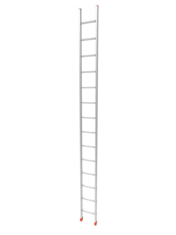 Scala professionale singola in alluminio 14 pioli altezza 4,10 metri Marchetti OR1