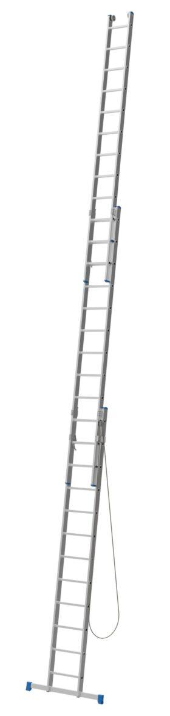 Scala sfilabile in alluminio a tre tronchi 13+13+13 pioli altezza 8,70 metri Marchetti Azzurra AC3