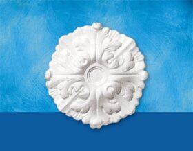 Rosone in polistirolo per soffitto modello DAPHNE diametro 22 cm