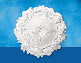 Rosone in polistirolo per soffitto modello ELEONORA diametro 41 cm