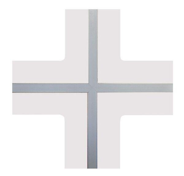Raccordo a X in cartongesso con profilo per led GYPSOCOMETE STAR