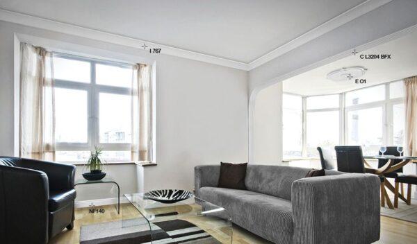 Cornice in polistirolo bovelacci per soffitto I705 3.5x3.5 cm lunghezza ml.2