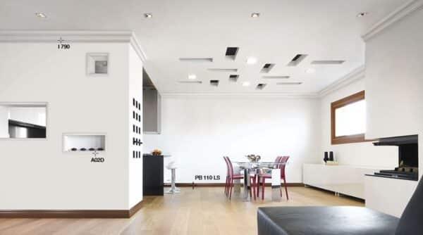 Cornice in polistirolo bovelacci per soffitto e pareti I802 1x2 cm lunghezza ml.2