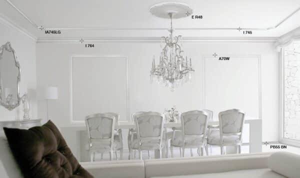 Cornice in polistirolo bovelacci per soffitto I790 11x11 cm lunghezza ml.2