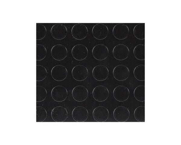 Pavimento tappeto in gomma a bolli per interni nero altezza 100 cm spessore 1,2 mm