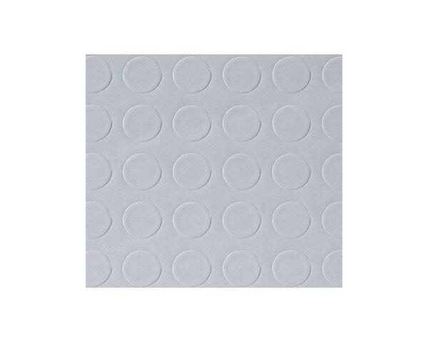 Pavimento tappeto in gomma antiscivolo a bolli per interni grigio altezza 100 cm spessore 1,2 mm
