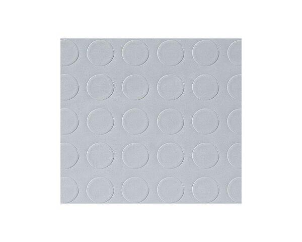 Pavimento tappeto antiscivolo a bolli per interni in gomma grigio altezza 120 cm spessore 3,3 mm