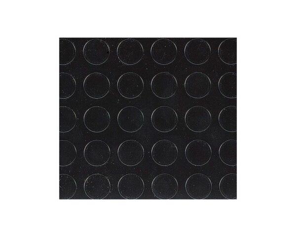 Pavimento tappeto antiscivolo a bolli in gomma per interni nero altezza 120 cm spessore 3.3 mm (rotolo da 12 mq.)