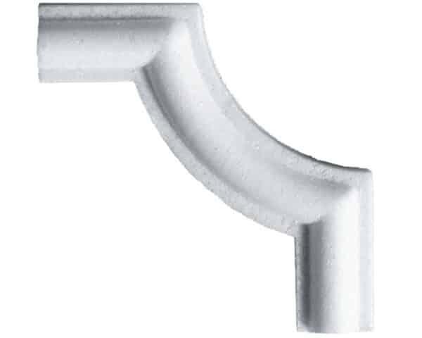 Angolo piccolo in polistirene estruso IA802LP per cornice I802 2x1 cm